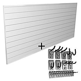 Proslat Basic Bundle 8-Foot x 4-Foot & 20-Piece Hook Kit in White