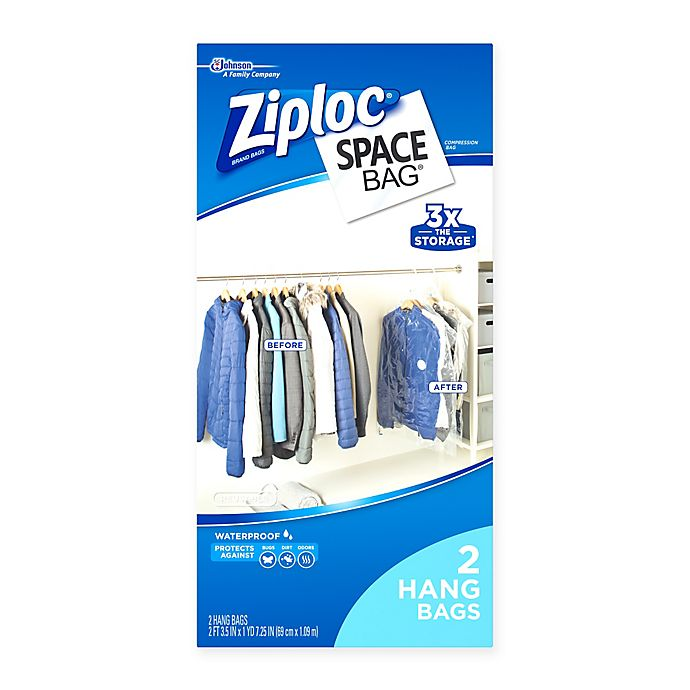 Ziploc 174 Space Bag 174 2 Pack Vacuum Seal Hanging Bag Bed