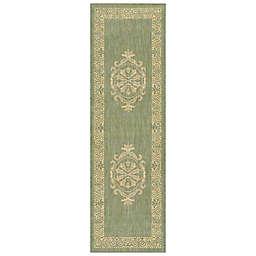 Couristan® Antique Medallion Indoor/Outdoor Rugs in Green/Natural