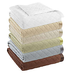 Micro Flannel® Quilted Satin-Trimmed Blanket