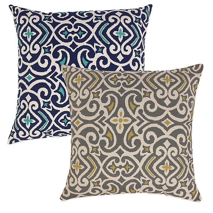 Alternate image 1 for New Damask Reversible Floor Pillow