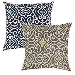 New Damask Reversible Floor Pillow