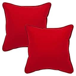 Pompeii Red Square Throw Pillow (Set of 2)
