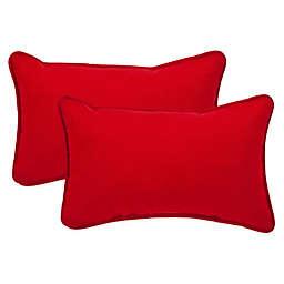 Pompeii Red Oblong Throw Pillow (Set of 2)
