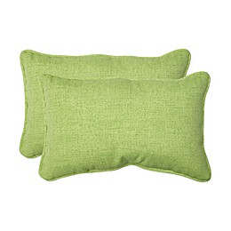 Baja Lime Green Oblong Throw Pillows (Set of 2)
