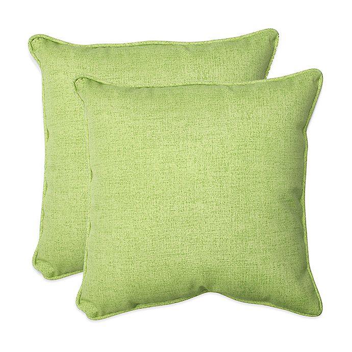 Baja Lime Green Square Throw Pillows Set Of 2 Bed Bath Beyond