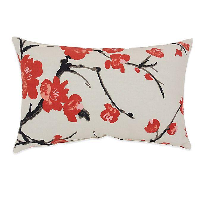Alternate image 1 for Flower Branch Oblong Throw Pillow