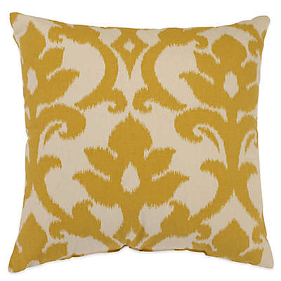 Azzure Square Throw Pillow in Gold