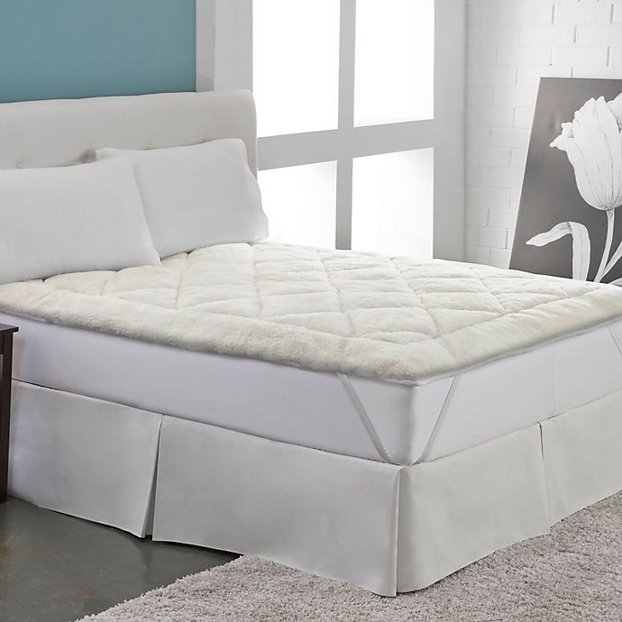 Alternate image 1 for Therapedic Cool Wool Reversible Queen Mattress Topper