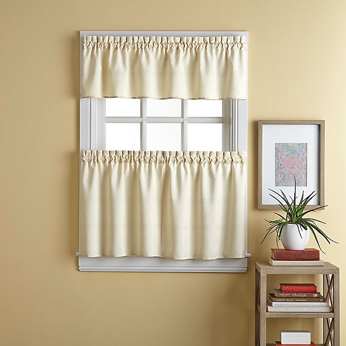 Alternate image 1 for Wesley 24-Inch Window Curtain Tier Pair in Natural