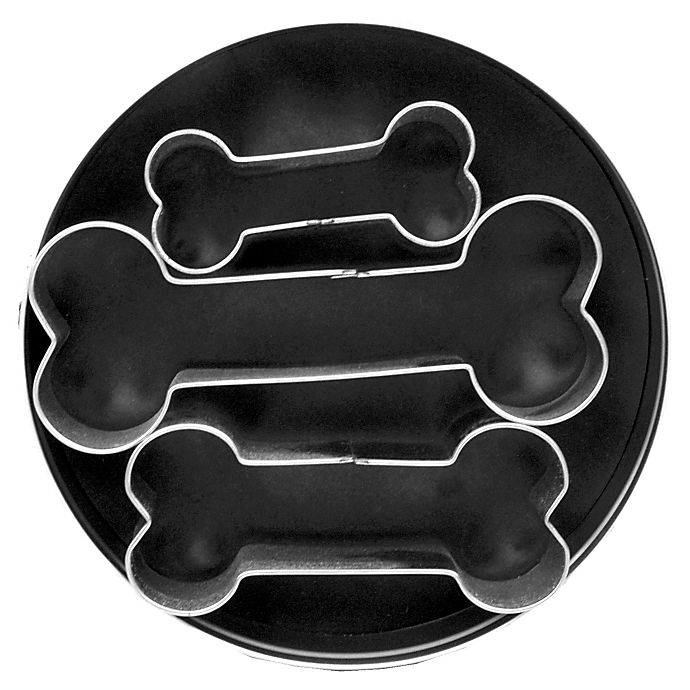Alternate image 1 for 3-Piece Dog Bone Cookie Cutter Set