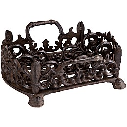 Home Essentials & Beyond Cast Iron Flatware Caddy