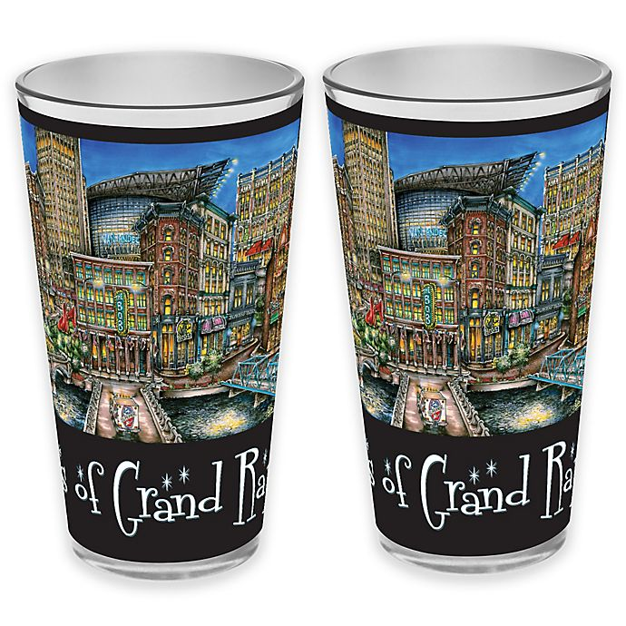 Alternate image 1 for pubsOf. Grand Rapids, Michigan Pint Glasses (Set of 2)