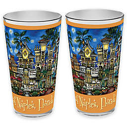 pubsOf. Naples, Florida Pint Glasses (Set of 2)