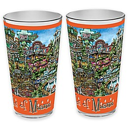 pubsOf. Miami, Florida Pint Glasses (Set of 2)