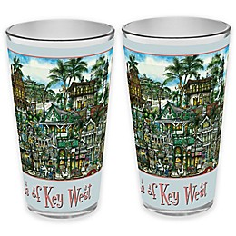 pubsOf. Key West, Florida Pint Glasses (Set of 2)