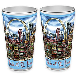 pubsOf. St. Louis, Missouri Pint Glasses (Set of 2)