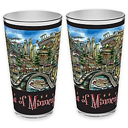 pubsOf.  Minneapolis, Minnesota Pint Glasses (Set of 2)