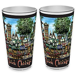 pubsOf. Old Town Chicago, Illinois Pint Glasses (Set of 2)