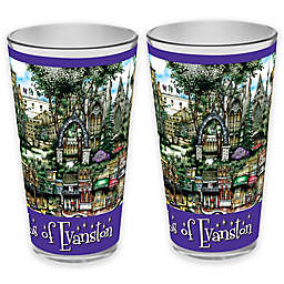 pubsOf. Evanston, Illinois Pint Glasses (Set of 2)