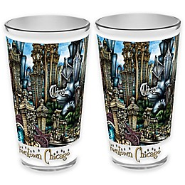 pubsOf. Chicago, Illinois Pint Glasses (Set of 2)