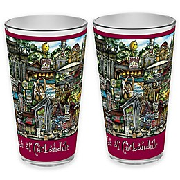 pubsOf. Carbondale, Illinois Pint Glasses (Set of 2)