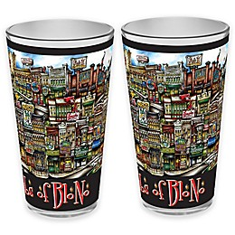 pubsOf. Blono, Illinois Pint Glasses (Set of 2)