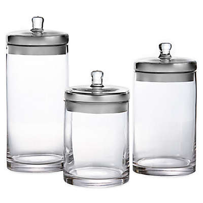 Fifth Avenue 3-Piece Glass Canister Set