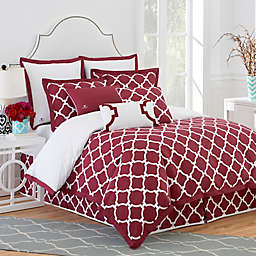 Jill Rosenwald Hampton Link Pillow Sham in Garnet