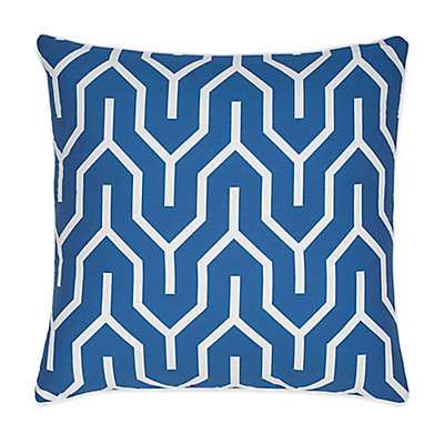 Jill Rosenwald Plimpton Flame Square Throw Pillow in Blue