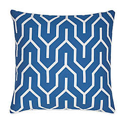 Jill Rosenwald Plimpton Flame Square Throw Pillow in Blue