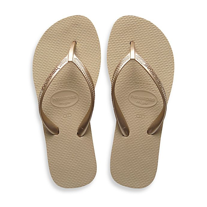 Alternate image 1 for Havaianas® Size 11/12 High Light Women's Sandal in Sand Grey