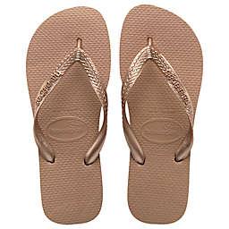 Havaianas® Top Metallic Women's Sandal in Rose Gold
