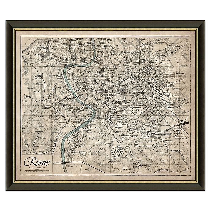 Framed Map of Rome, Italy Wall Décor   Bed Bath & Beyond on map lamp shade, map room divider, map travel, map venezuela flag, map in india, map in europe, map with states, map facebook covers, map cornwall uk, map tools, map recipe, map cross stitch, map of montana, map with mountains, map se usa, map color, map games, map design, map with title, map example,
