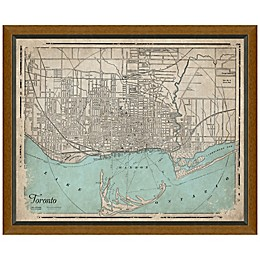 Framed Map of Toronto, Canada Wall Décor