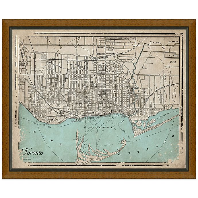 Alternate image 1 for Framed Map of Toronto, Canada Wall Décor
