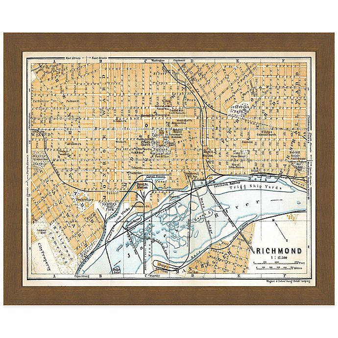 Framed Map Of Richmond, VA Wall Décor
