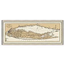 Framed Long Island, NY Map Wall Décor