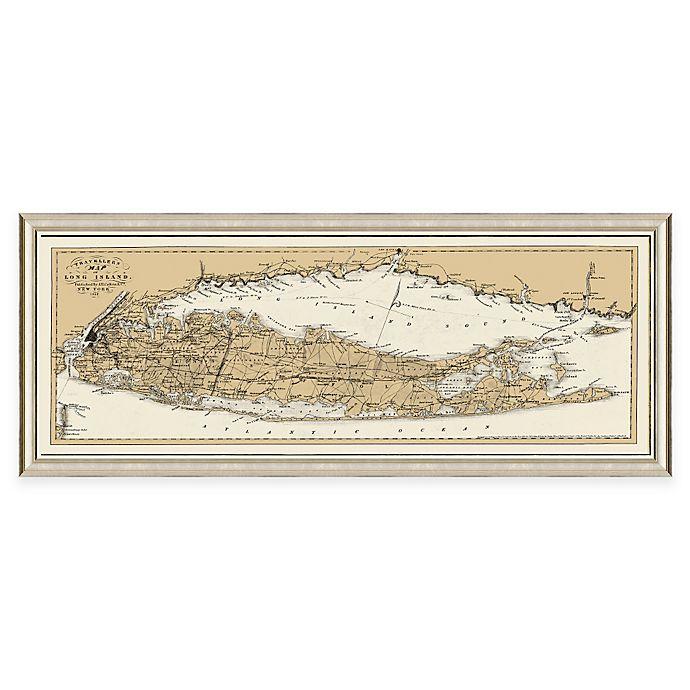 Framed Long Island Ny Map Wall D 233 Cor Bed Bath Amp Beyond