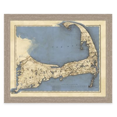 Framed Map Of Cape Cod Landscape Wall Art Bed Bath Amp Beyond