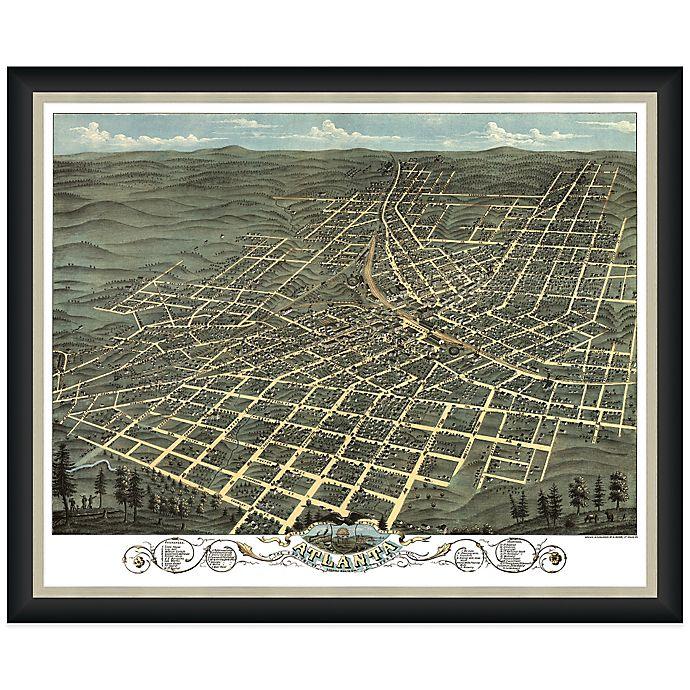 Framed Bird's Eye View Of Atlanta, GA Wall Décor