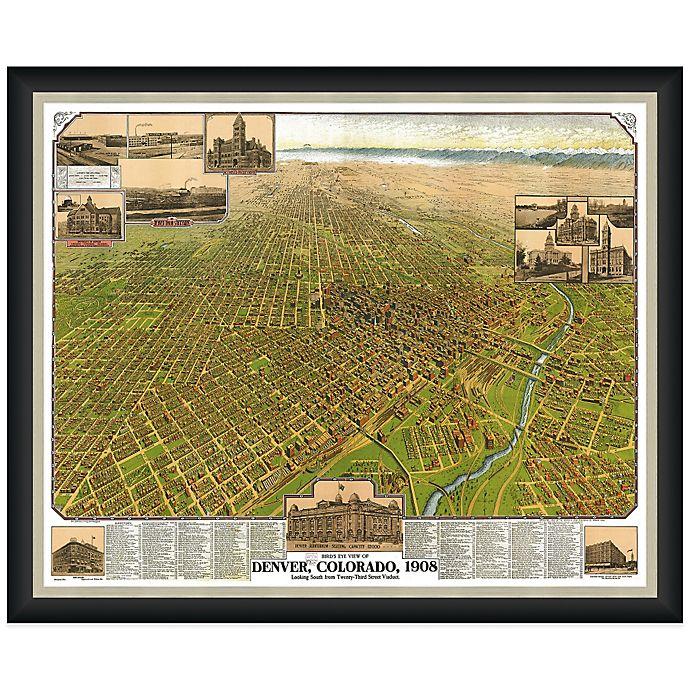 Floor And Decor Denver Stapleton: Framed Denver, CO Map Wall Décor