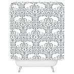 Deny Designs Elephant Damask Paloma Shower Curtain in Grey