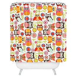 Deny Designs Valentina Ramos Cute Little Owls Shower Curtain