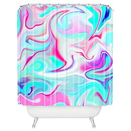 Deny Designs Jacqueline Maldonado Liquid 3 Shower Curtain in Blue