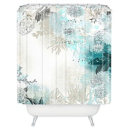 Deny Designs Iveta Abolina Seafoam Shower Curtain in White