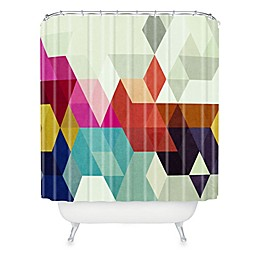 Deny Designs Three of the Possessed Modele 7 Shower Curtain in Grey