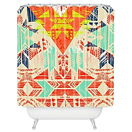 Deny Designs Pattern State Nomad Dawn Shower Curtain in Orange