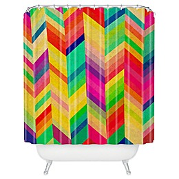 Deny Designs Rebecca Allen Color Quest Shower Curtain in Yellow