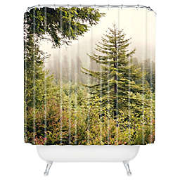 Deny Designs Catherine McDonald Into The Mist Shower Curtain in Green